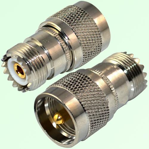 RF Adapter UHF SO239 Female Jack to UHF PL259 Male Plug