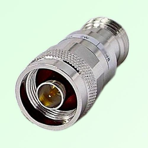 N Attenuator N Female Jack to Male Plug 2W DC-3GHz 1-40dB