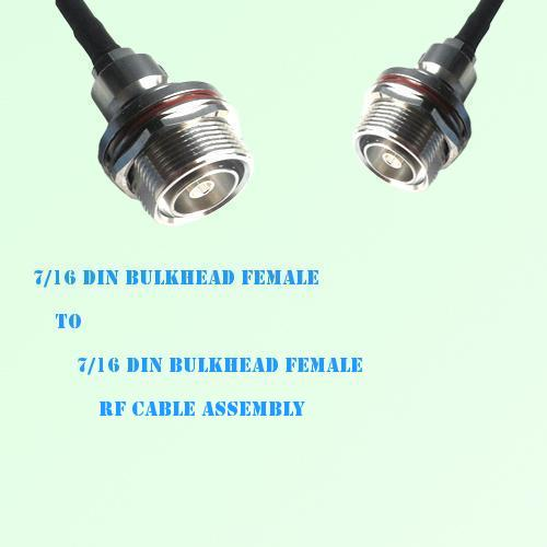 7/16 DIN Bulkhead Female to 7/16 DIN Bulkhead Female RF Cable Assembly