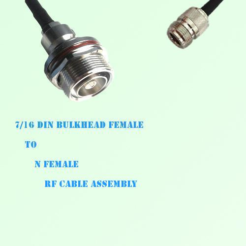 7/16 DIN Bulkhead Female to N Female RF Cable Assembly