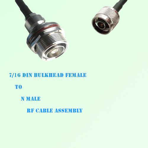 7/16 DIN Bulkhead Female to N Male RF Cable Assembly