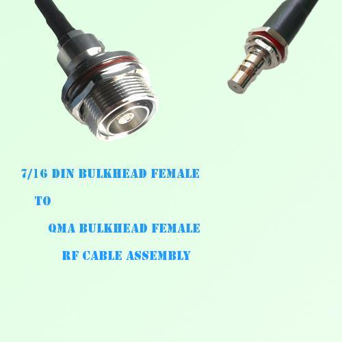 7/16 DIN Bulkhead Female to QMA Bulkhead Female RF Cable Assembly