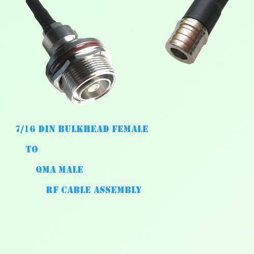 7/16 DIN Bulkhead Female to QMA Male RF Cable Assembly