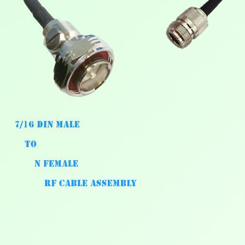 7/16 DIN Male to N Female RF Cable Assembly