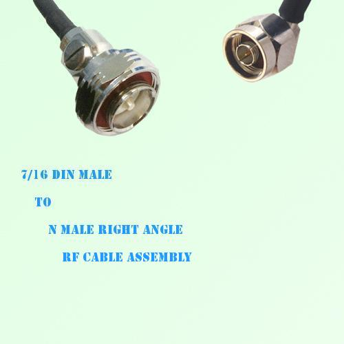 7/16 DIN Male to N Male Right Angle RF Cable Assembly