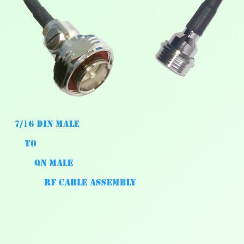 7/16 DIN Male to QN Male RF Cable Assembly