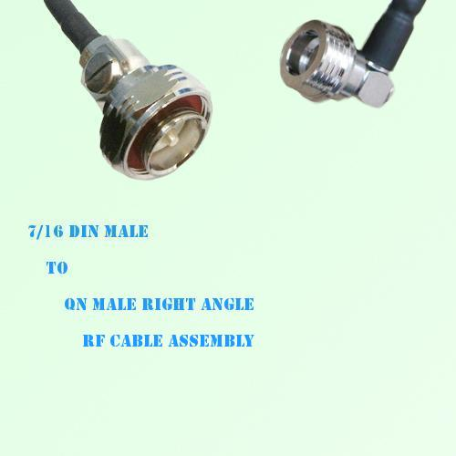 7/16 DIN Male to QN Male Right Angle RF Cable Assembly