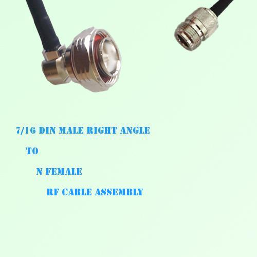 7/16 DIN Male Right Angle to N Female RF Cable Assembly