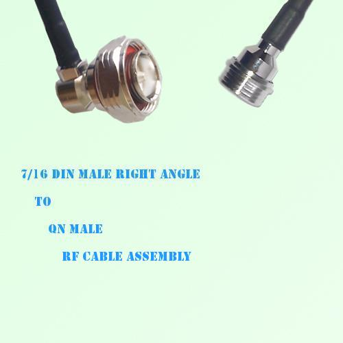 7/16 DIN Male Right Angle to QN Male RF Cable Assembly