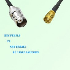 BNC Female to SMB Female RF Cable Assembly