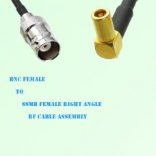 BNC Female to SSMB Female Right Angle RF Cable Assembly