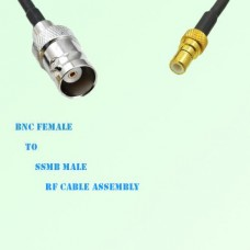 BNC Female to SSMB Male RF Cable Assembly