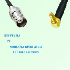 BNC Female to SSMB Male Right Angle RF Cable Assembly