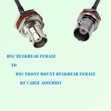 BNC Bulkhead Female to BNC Front Mount Bulkhead Female RF Cable