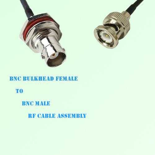 BNC Bulkhead Female to BNC Male RF Cable Assembly