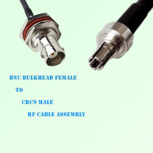 BNC Bulkhead Female to CRC9 Male RF Cable Assembly