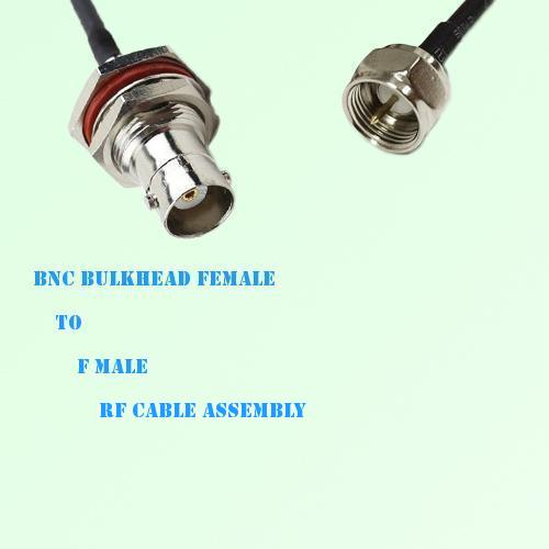 BNC Bulkhead Female to F Male RF Cable Assembly