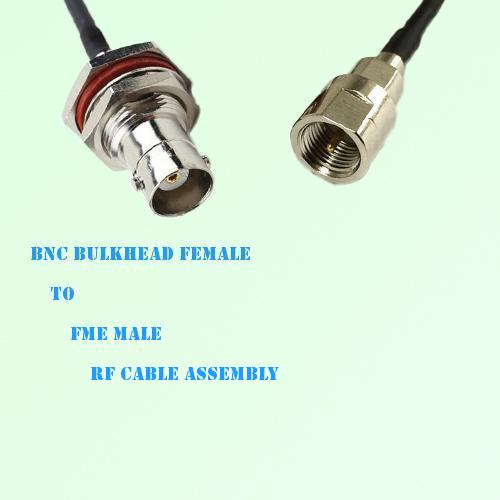 BNC Bulkhead Female to FME Male RF Cable Assembly