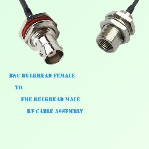 BNC Bulkhead Female to FME Bulkhead Male RF Cable Assembly