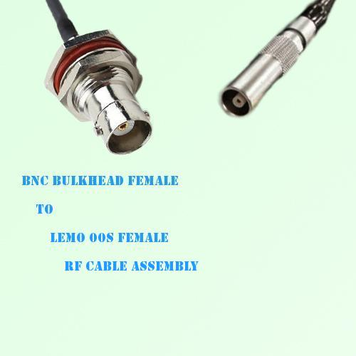 BNC Bulkhead Female to Lemo FFA 00S Female RF Cable Assembly