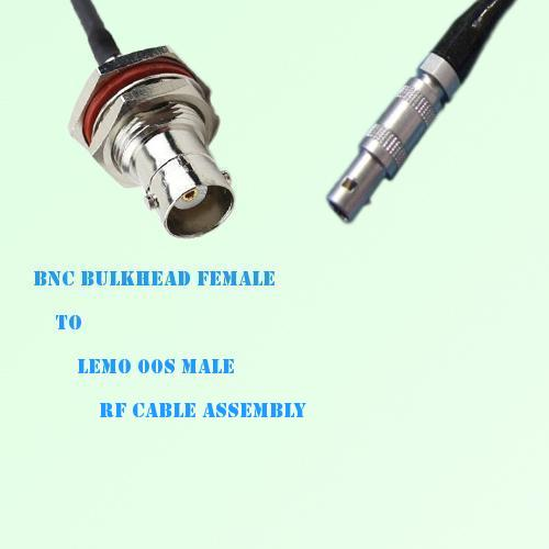 BNC Bulkhead Female to Lemo FFA 00S Male RF Cable Assembly