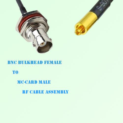 BNC Bulkhead Female to MC-Card Male RF Cable Assembly