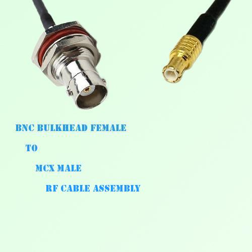 BNC Bulkhead Female to MCX Male RF Cable Assembly