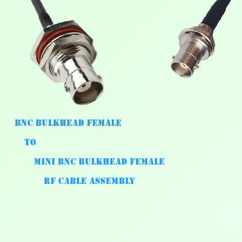 BNC Bulkhead Female to Mini BNC Bulkhead Female RF Cable Assembly