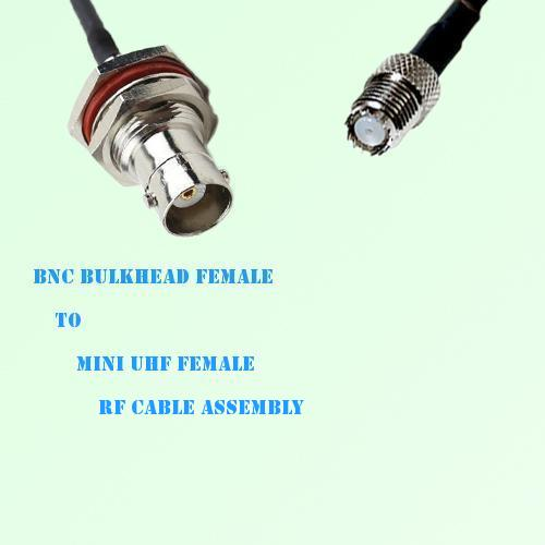 BNC Bulkhead Female to Mini UHF Female RF Cable Assembly