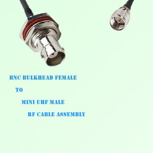 BNC Bulkhead Female to Mini UHF Male RF Cable Assembly