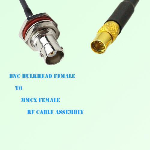 BNC Bulkhead Female to MMCX Female RF Cable Assembly