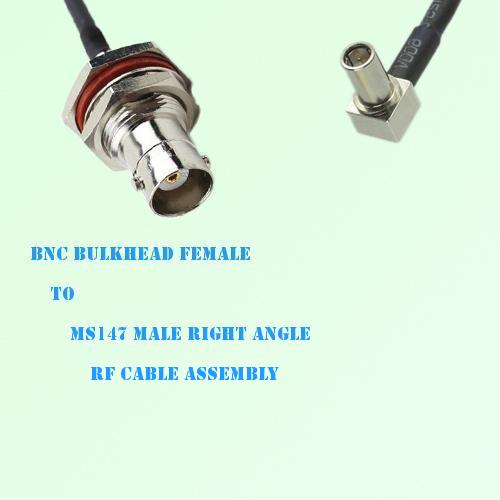 BNC Bulkhead Female to MS147 Male Right Angle RF Cable Assembly