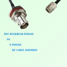 BNC Bulkhead Female to N Female RF Cable Assembly
