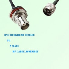 BNC Bulkhead Female to N Male RF Cable Assembly