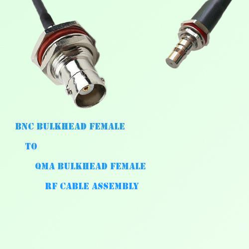 BNC Bulkhead Female to QMA Bulkhead Female RF Cable Assembly