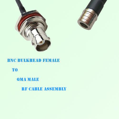 BNC Bulkhead Female to QMA Male RF Cable Assembly