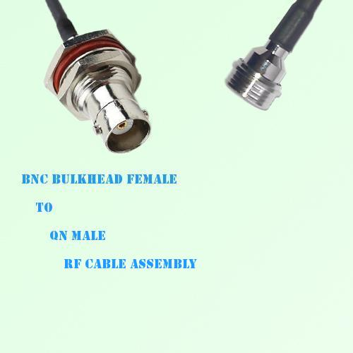 BNC Bulkhead Female to QN Male RF Cable Assembly