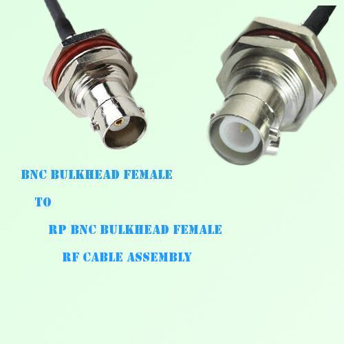 BNC Bulkhead Female to RP BNC Bulkhead Female RF Cable Assembly