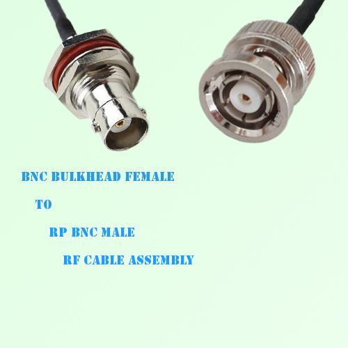 BNC Bulkhead Female to RP BNC Male RF Cable Assembly