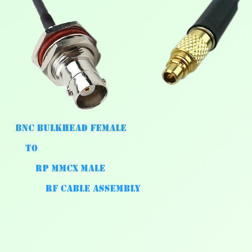 BNC Bulkhead Female to RP MMCX Male RF Cable Assembly