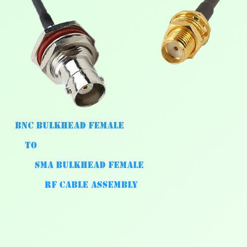 BNC Bulkhead Female to SMA Bulkhead Female RF Cable Assembly