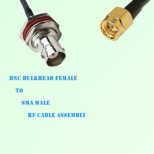BNC Bulkhead Female to SMA Male RF Cable Assembly