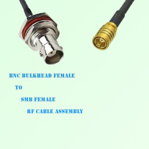 BNC Bulkhead Female to SMB Female RF Cable Assembly
