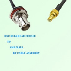 BNC Bulkhead Female to SMB Male RF Cable Assembly