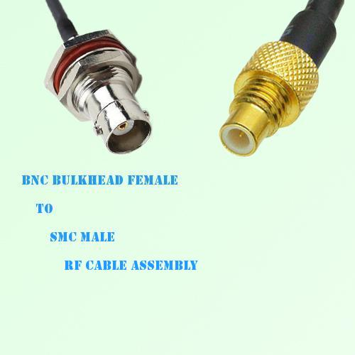 BNC Bulkhead Female to SMC Male RF Cable Assembly