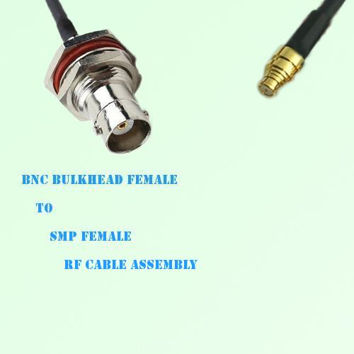 BNC Bulkhead Female to SMP Female RF Cable Assembly