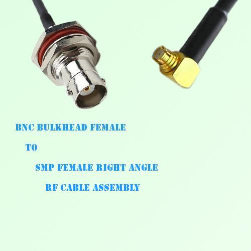 BNC Bulkhead Female to SMP Female Right Angle RF Cable Assembly