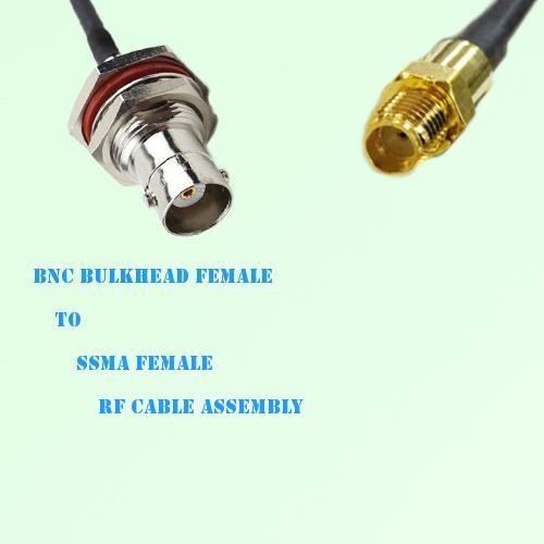 BNC Bulkhead Female to SSMA Female RF Cable Assembly