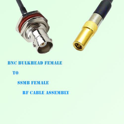 BNC Bulkhead Female to SSMB Female RF Cable Assembly