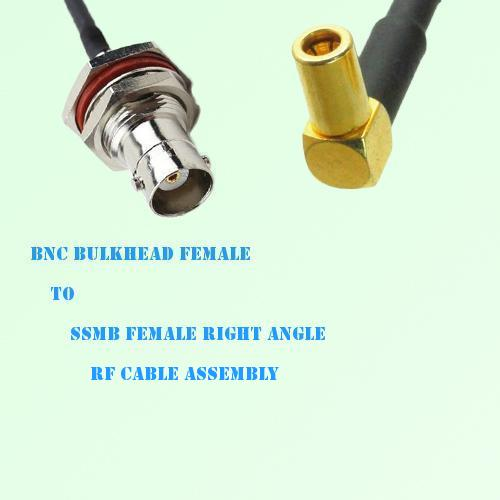 BNC Bulkhead Female to SSMB Female Right Angle RF Cable Assembly